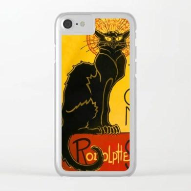 Le Chat Noir Clear iPhone Case