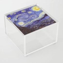 Vincent Van Gogh Starry Night Acrylic Box