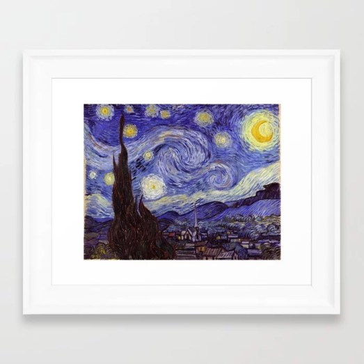 Vincent Van Gogh Starry Night Framed Art Print