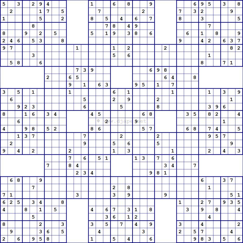 Tirpidz S Sudoku 454 Classic Sudoku 16 X 16