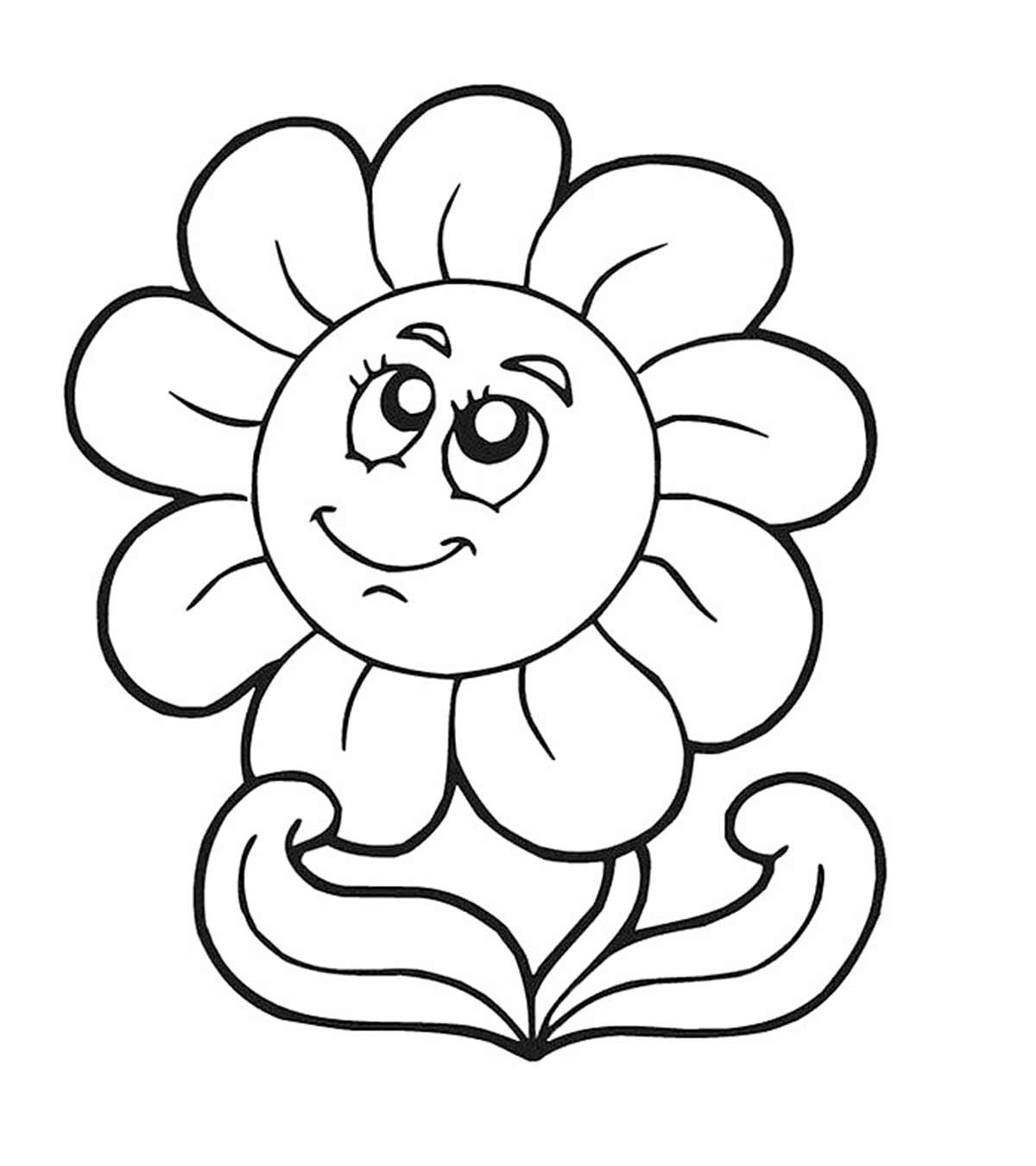 Sunflower Colouring Pages