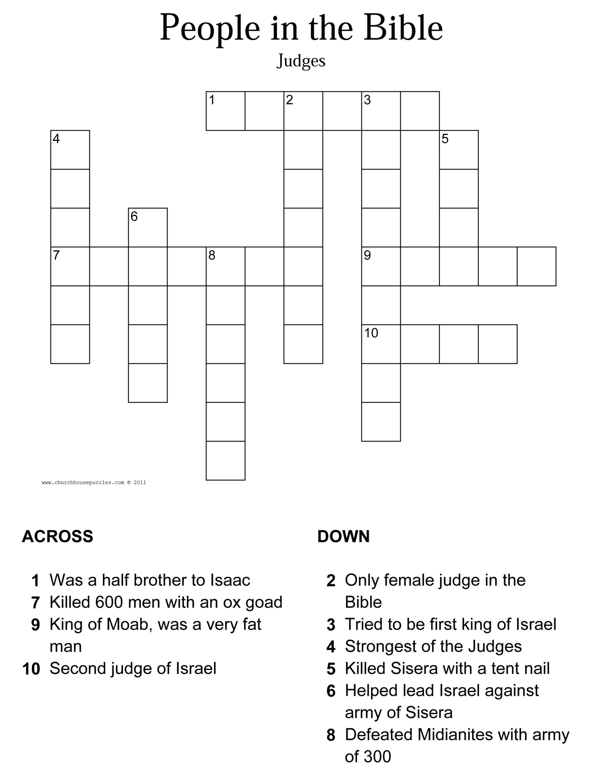 Printable Bible Crossword Puzzles With Scripture
