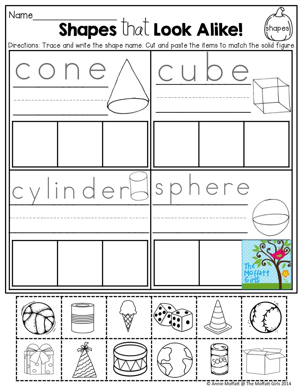 Free Printable 3d Shapes Worksheets For Kindergarten