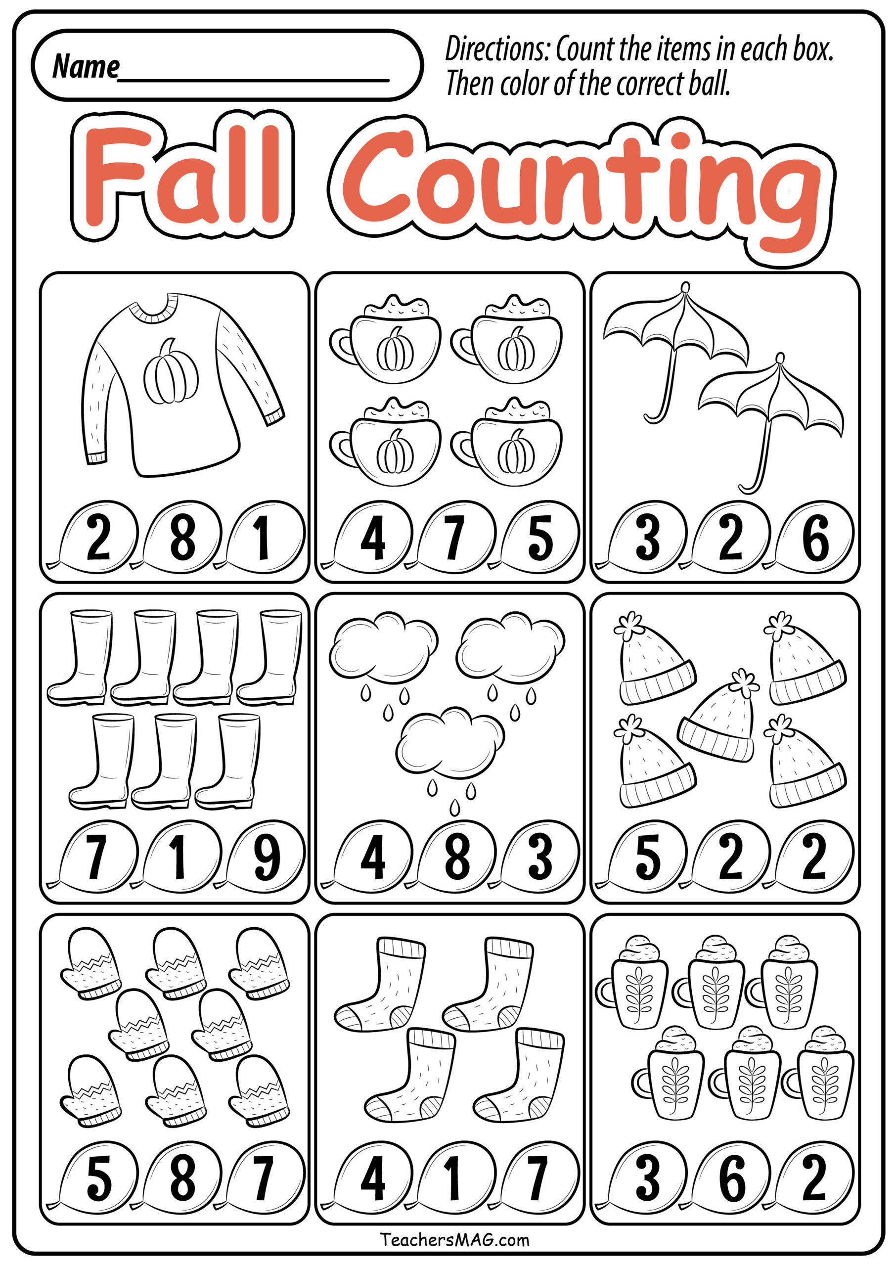 Free Printable Fall Worksheets For Preschoolers