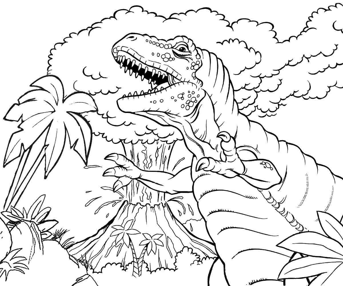 Printable Coloring Pages Volcanoes