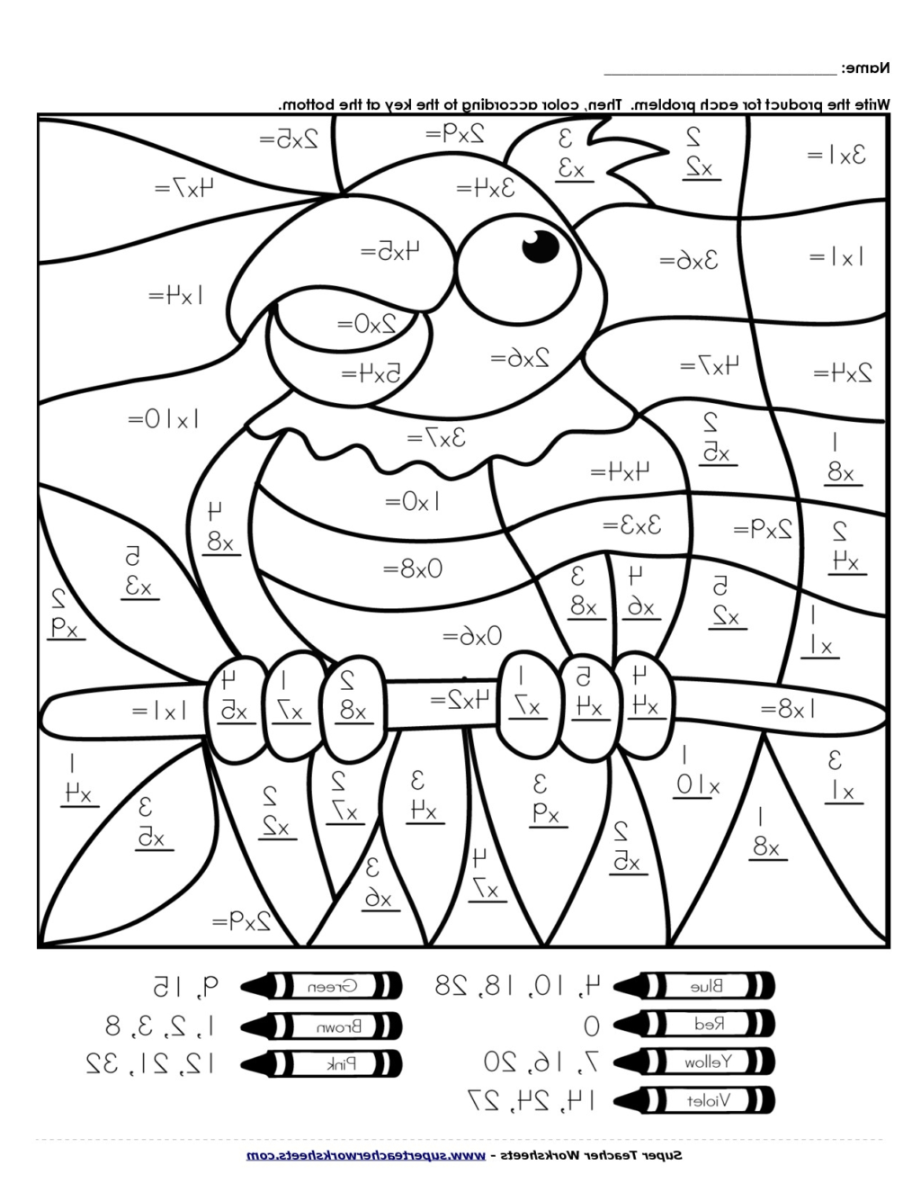 Printable Fun Math Worksheets For Middle School