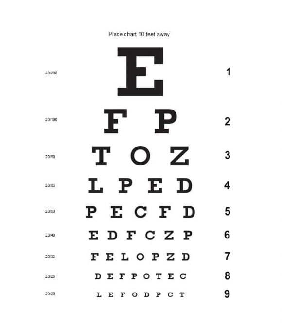 Snellen Eye Chart Printable Pdf Jidimakeup