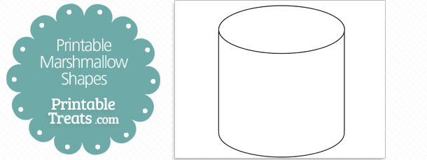 printable marshmallow shape template — printable treats