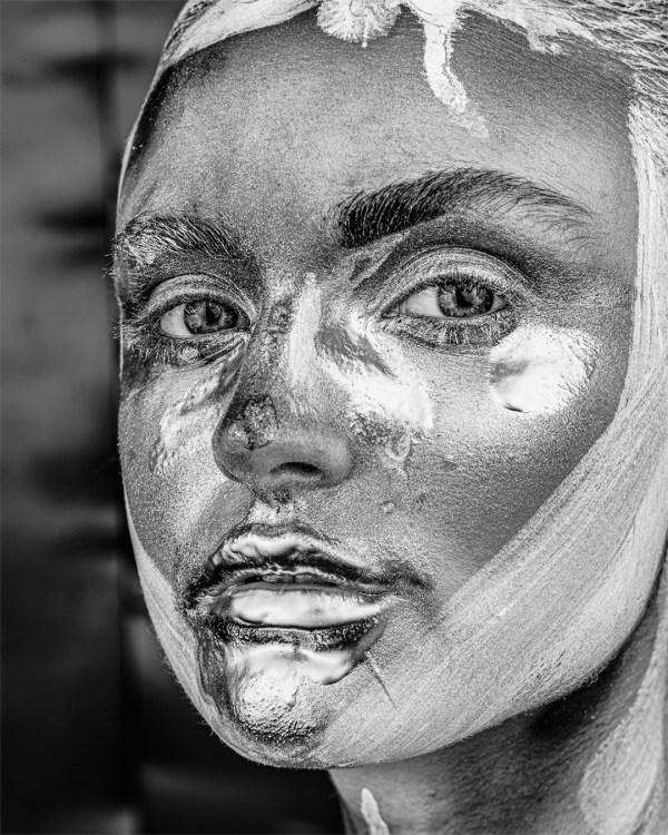 Porträt-Schwarz-weiss