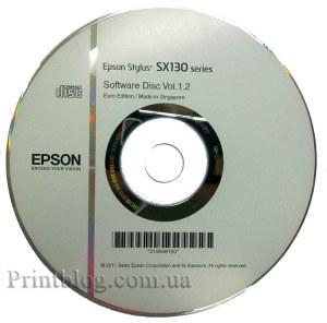 Оригинальный диск с драйверами и ПО от Epson Stylus SX130