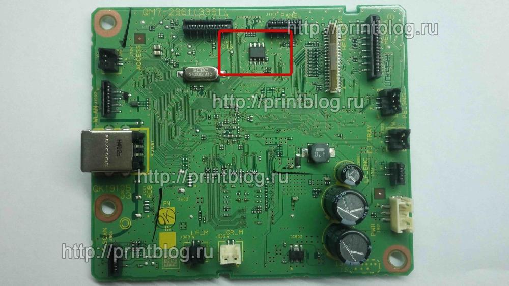 Главная плата Canon Pixma MG3540 сброс памперса