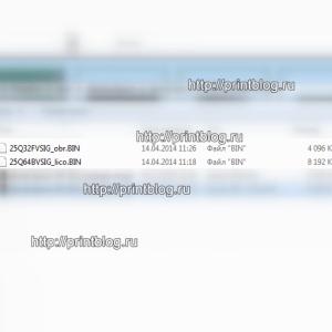 Дампы 25Q064 и 25Q032 от принтера Epson XP-313