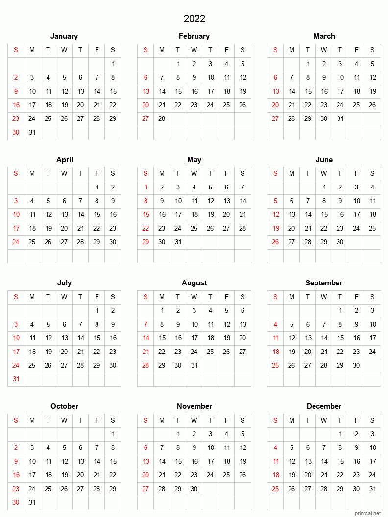 These include monthly calendars and even complete 2021 planners. Printable full-year calendars for 2022