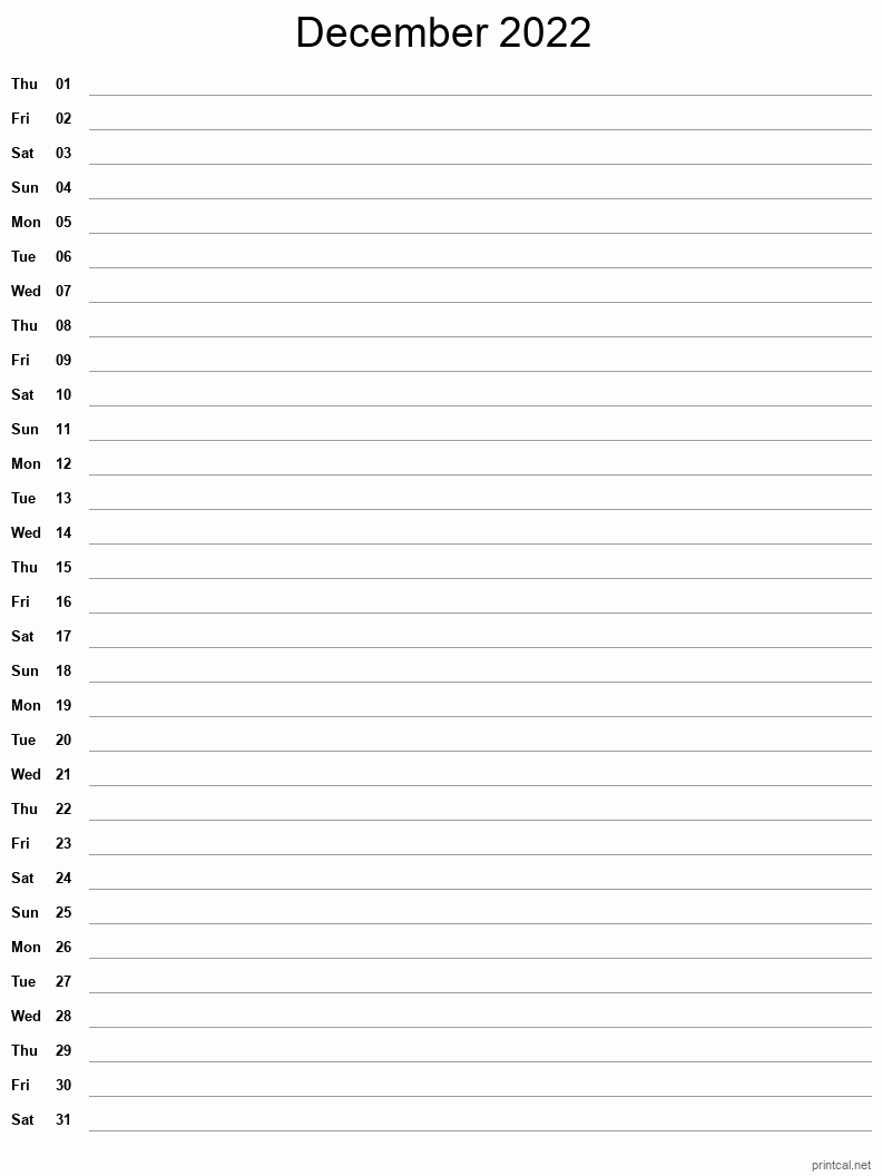 You can also choose between portrait and landscape layout before print by changing your print settings. Printable December 2022 Calendar   Free Printable Calendars