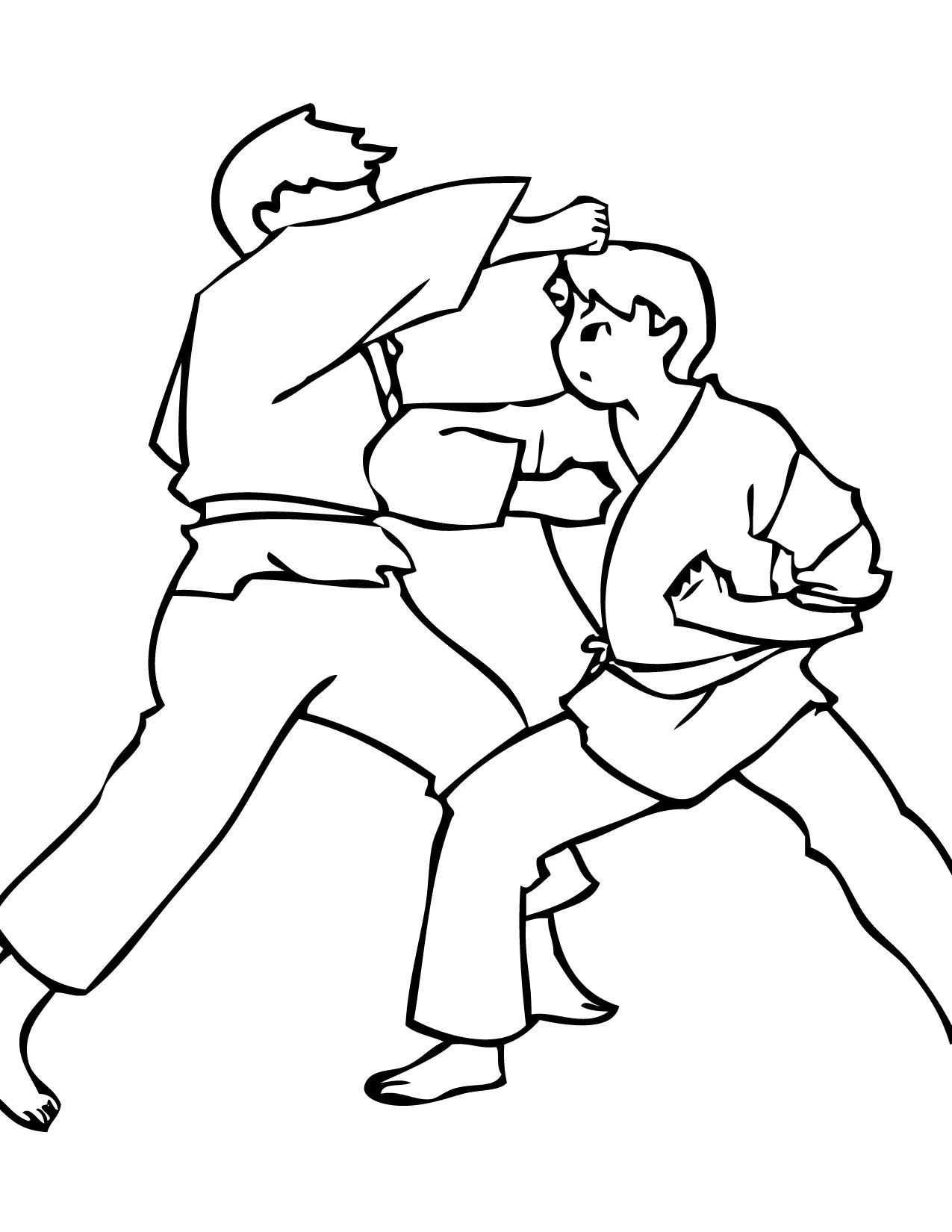 14 Martial Arts Coloring Pages