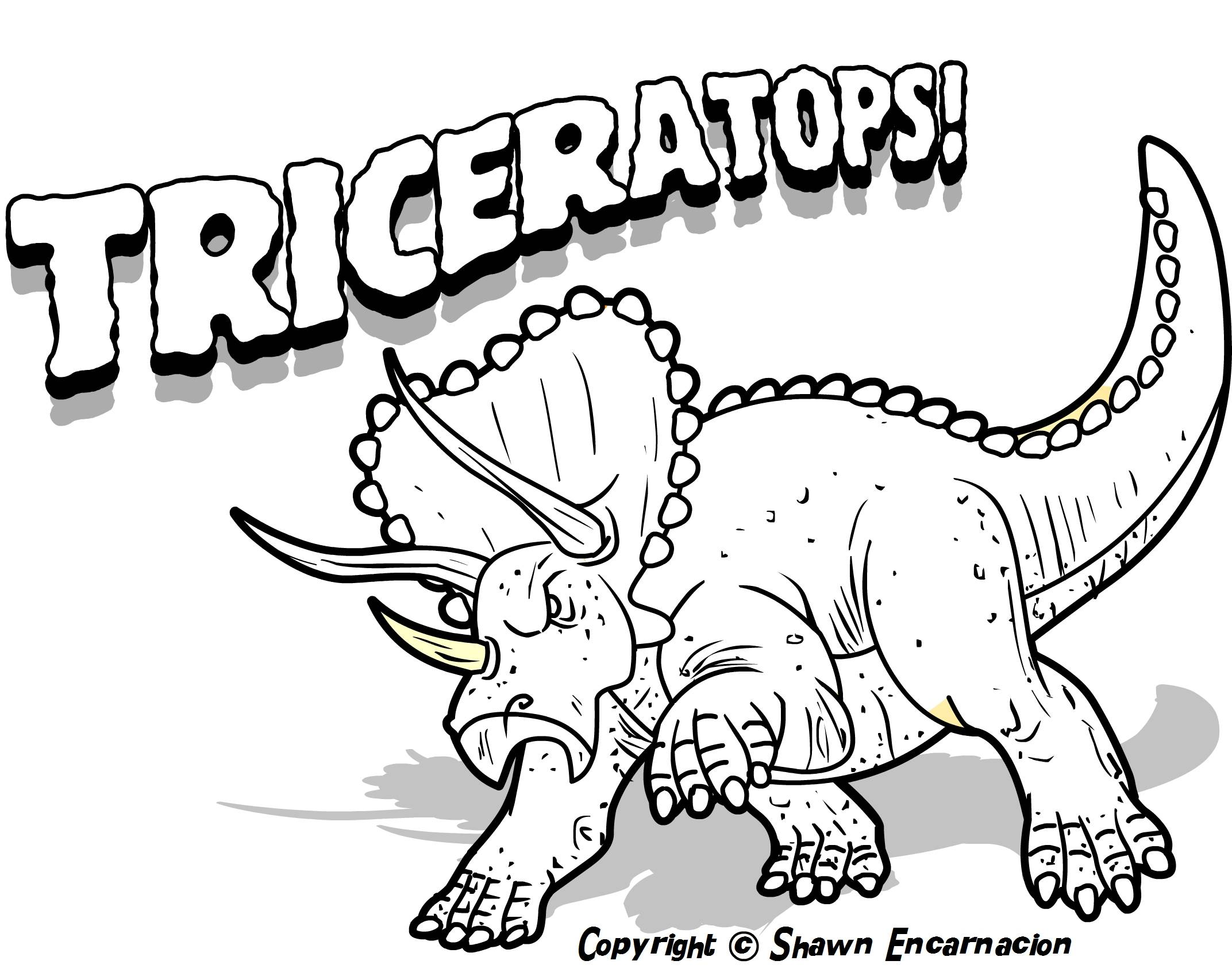 Terrible Lizards Dinosaurs Coloring Pages 17 Pictures And