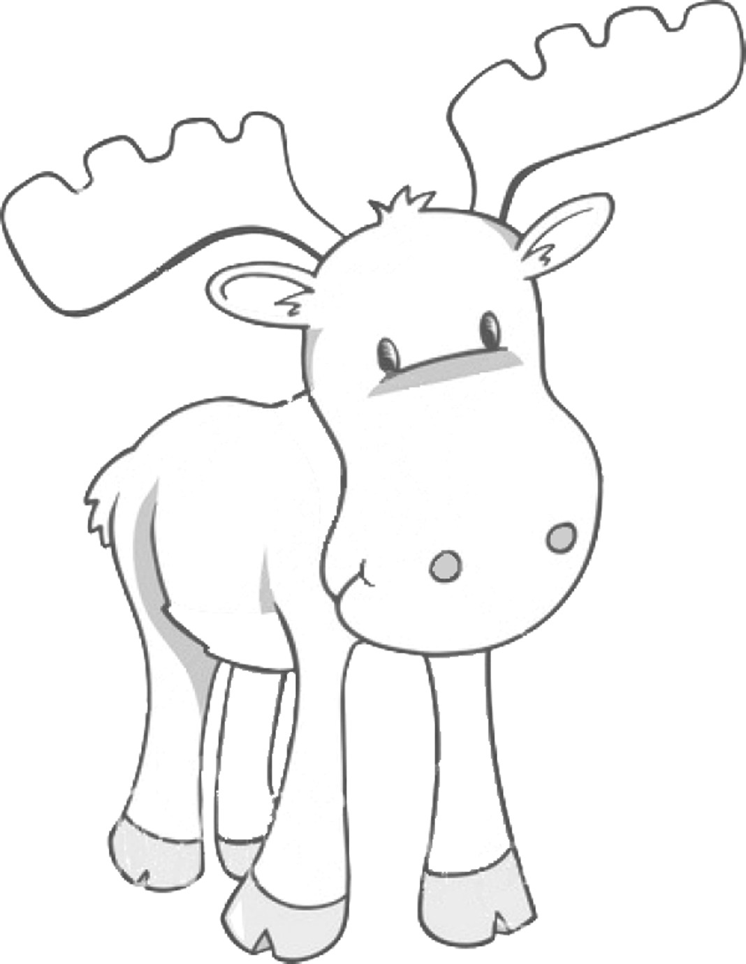 16 Moose Coloring Pages