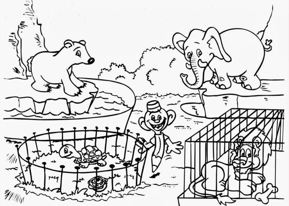 14 zoo coloring pages zoo animals printable pictures ...   colouring pages for zoo animals