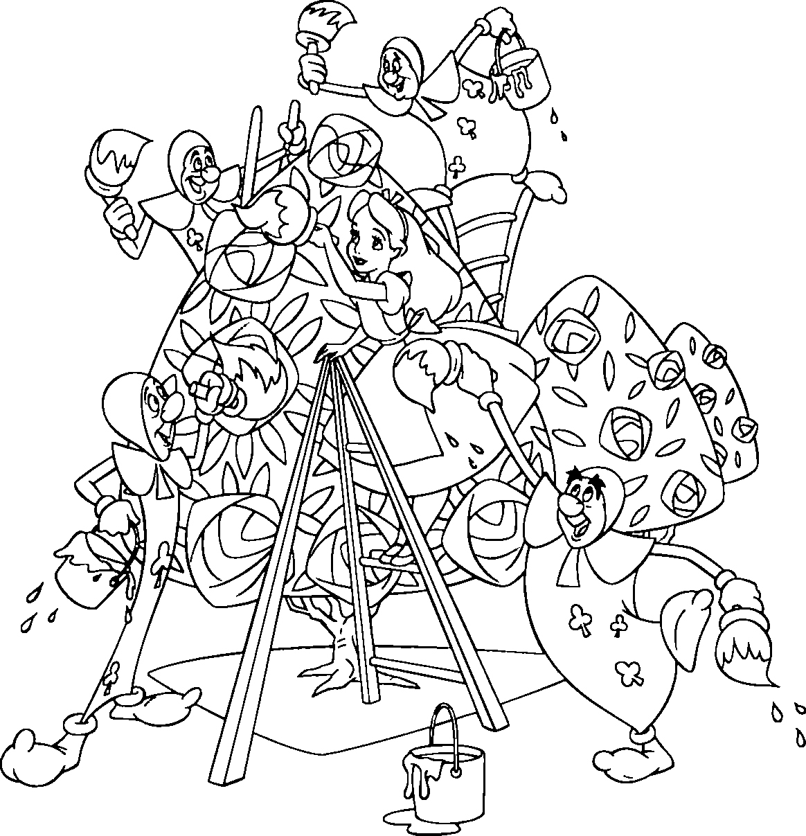 13 Coloring Pictures Alice In Wonderland