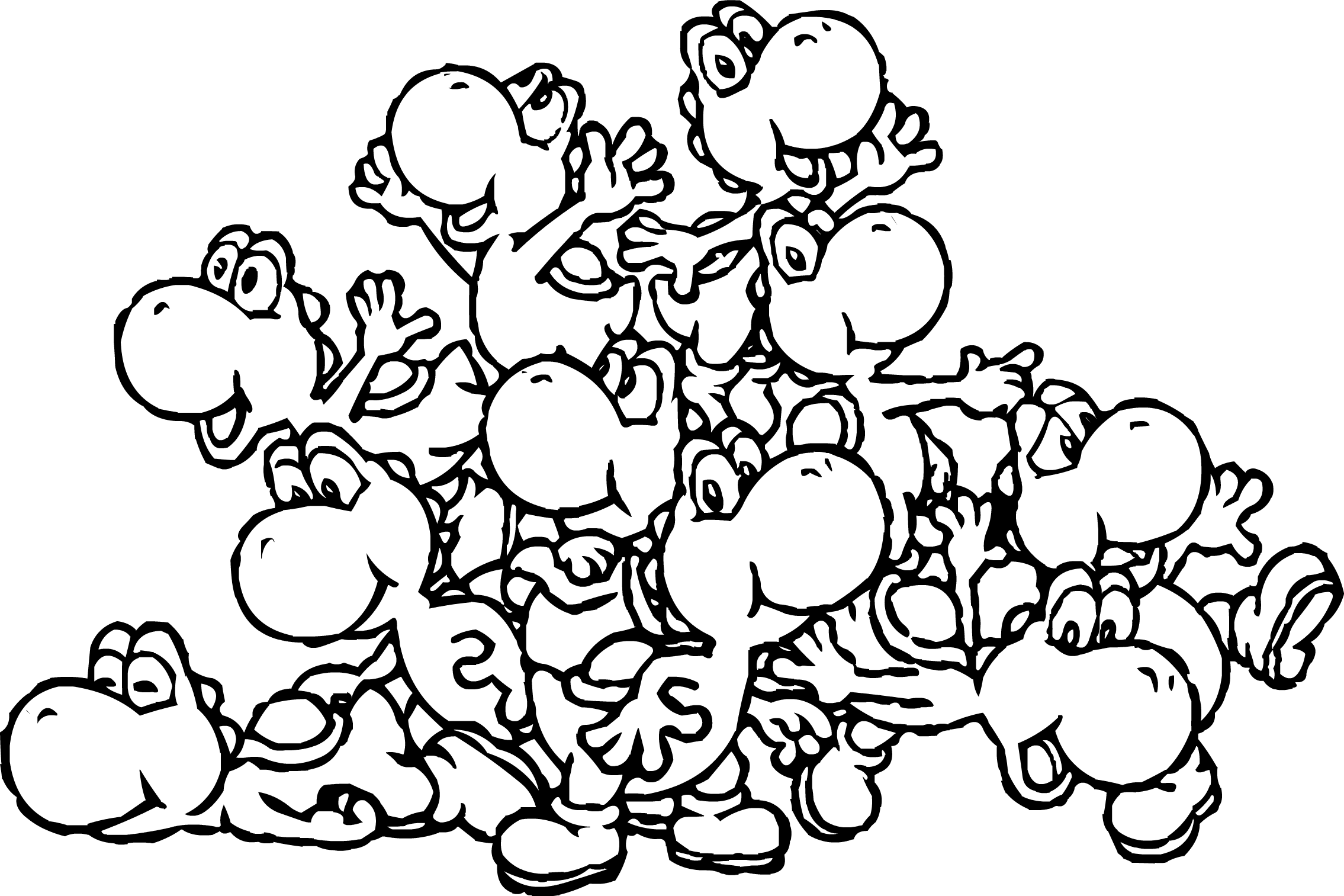 11 Baby Yoshi Coloring Pages For Kids