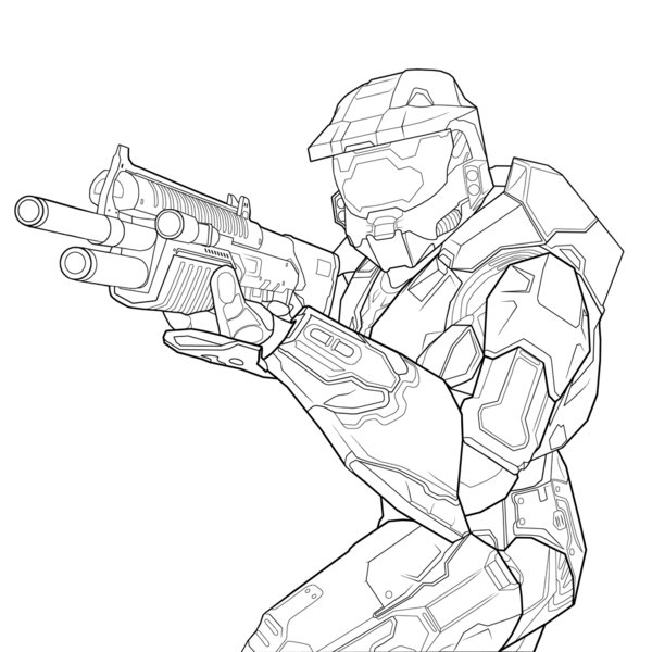 coloring pages halo # 22