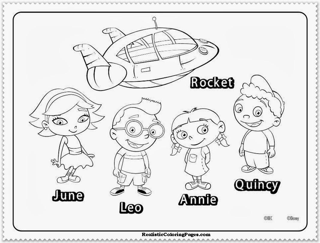 12 Printable Pictures Of Little Einsteins Page
