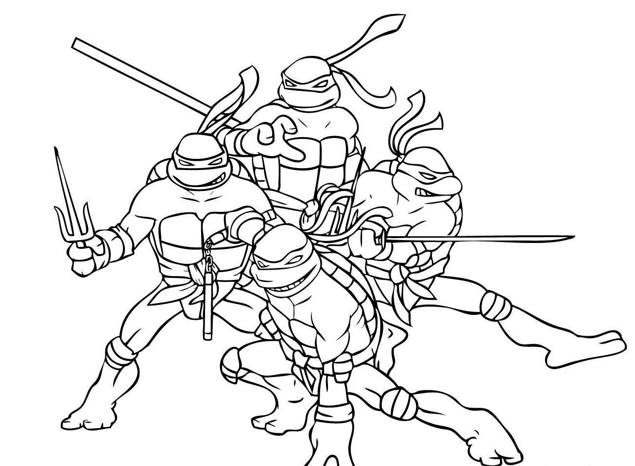 15 Ninja Turtles Coloring Page To Print