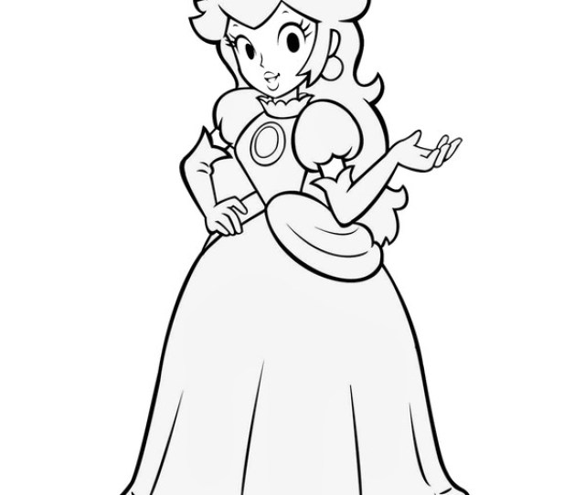 Princess Peach Coloring Pages For Kids Print Color Craft