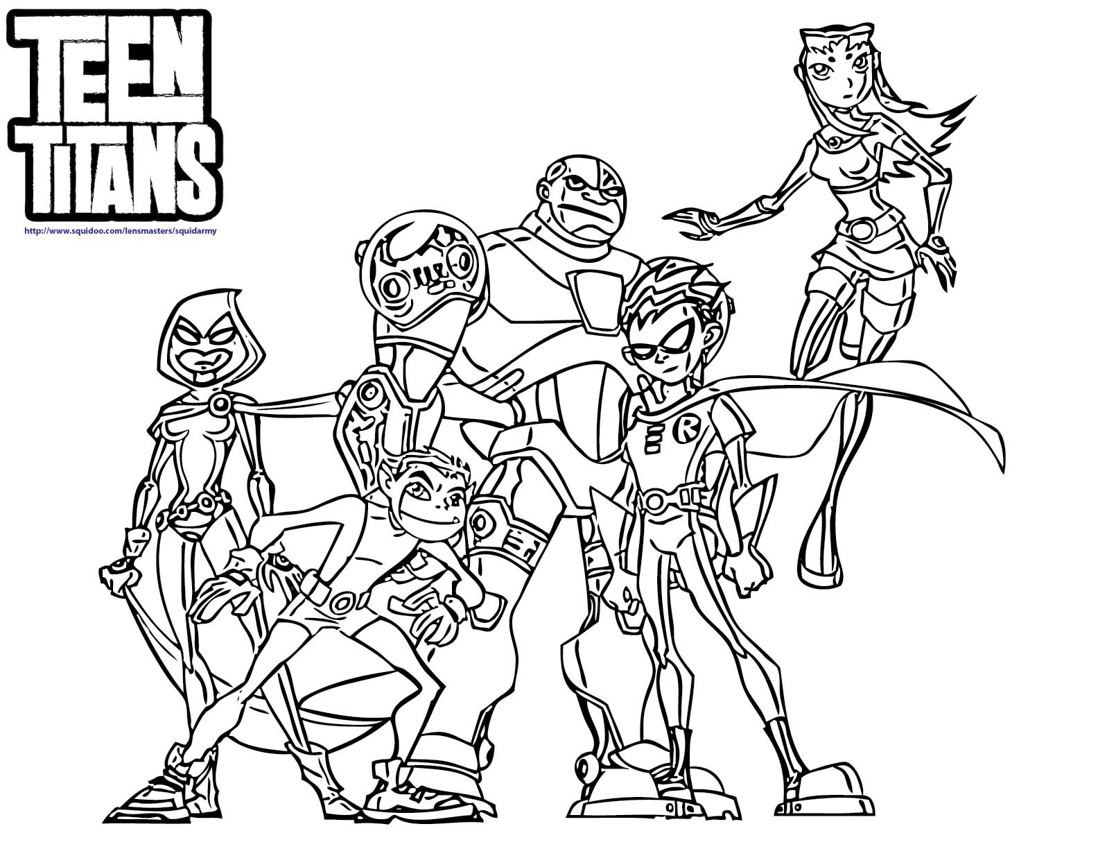 14 Coloring Pages Of Teen Titans