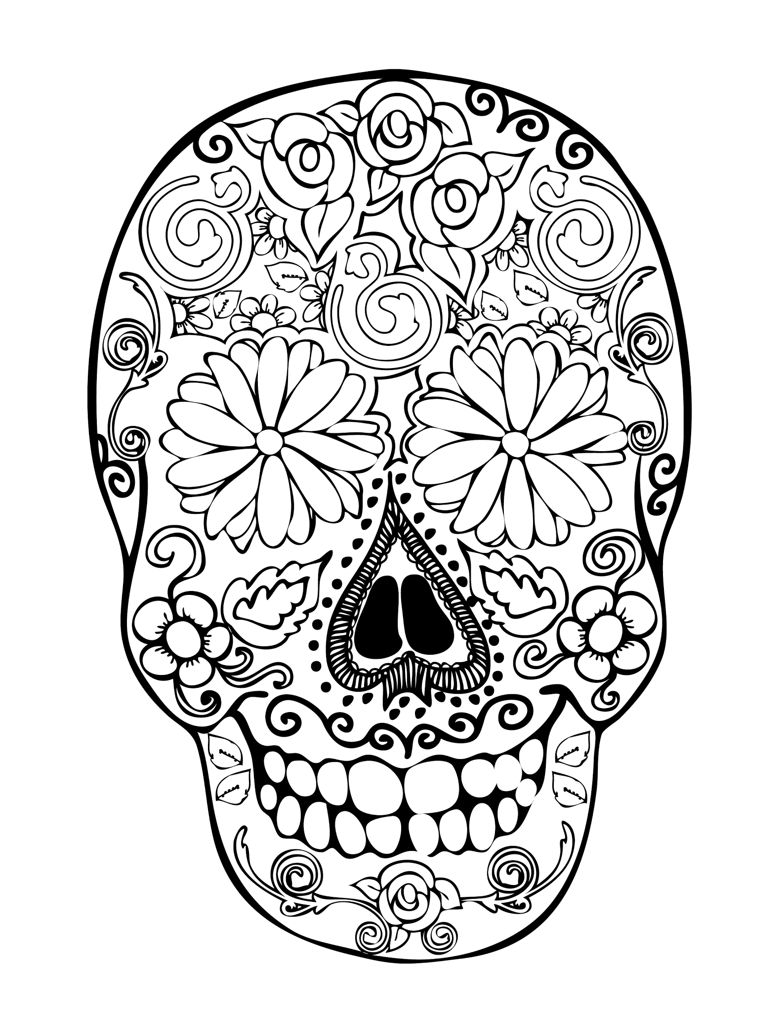 28 Skull Coloring Pages For Kids