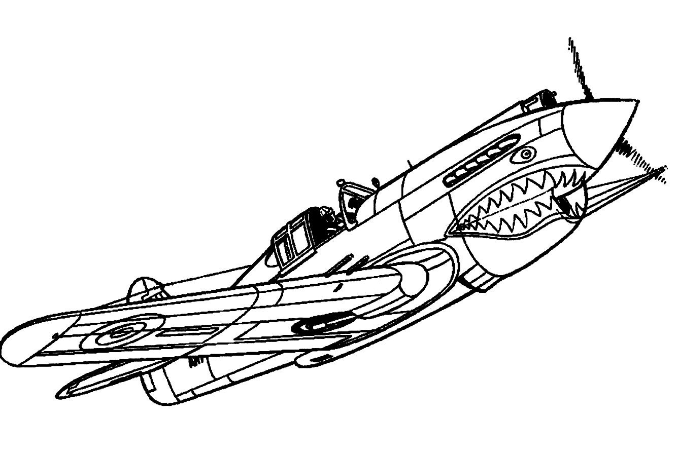 13 Airplane Coloring Pages For Kids