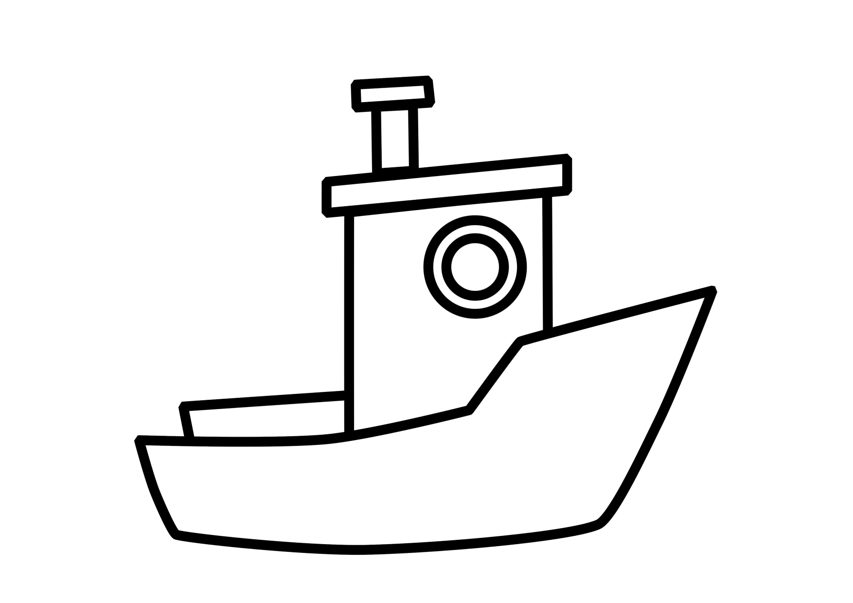 11 Coloring Pages Of Boat Print Color Craft