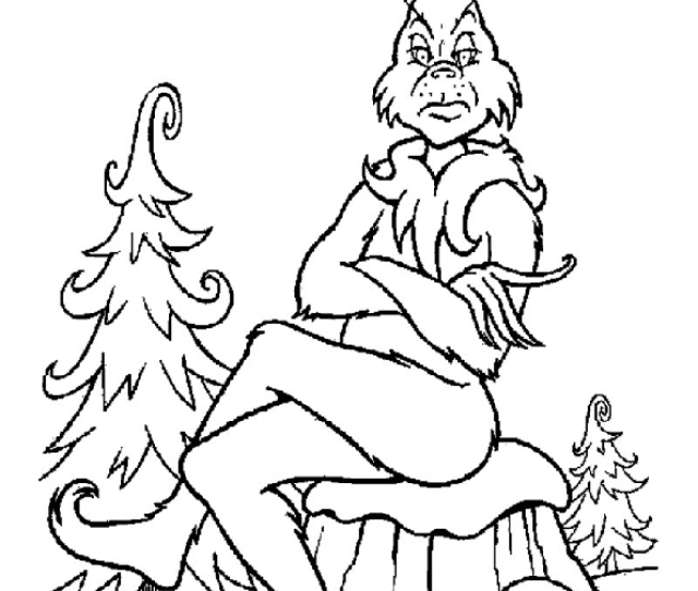 Grinch Coloring Pages For Christmas Print Color Craft Print