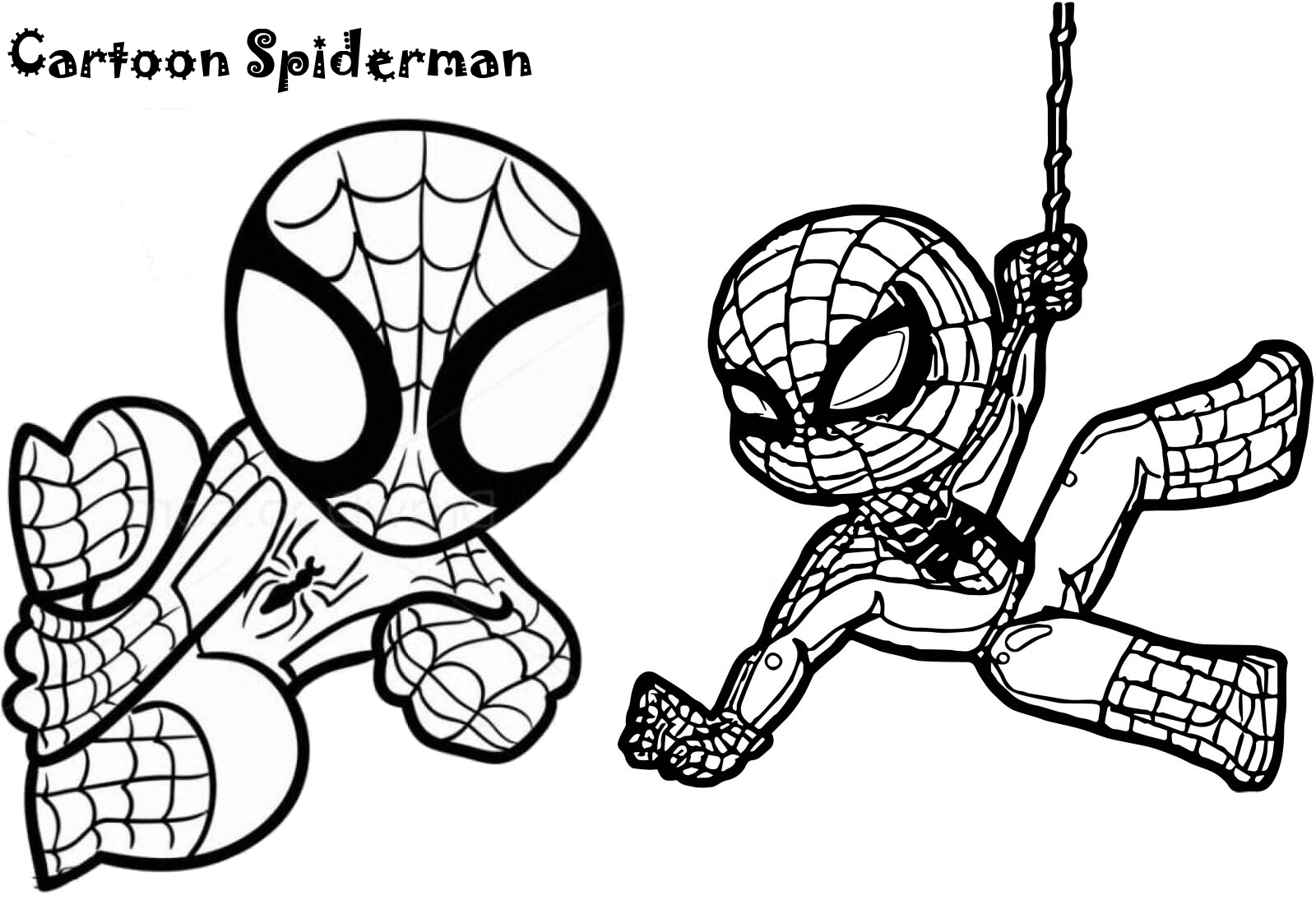 23 Coloring Pictures Of Spiderman Superhero Spider Man