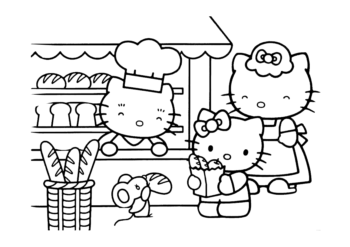 27 Hello Kitty Coloring Pages Printable