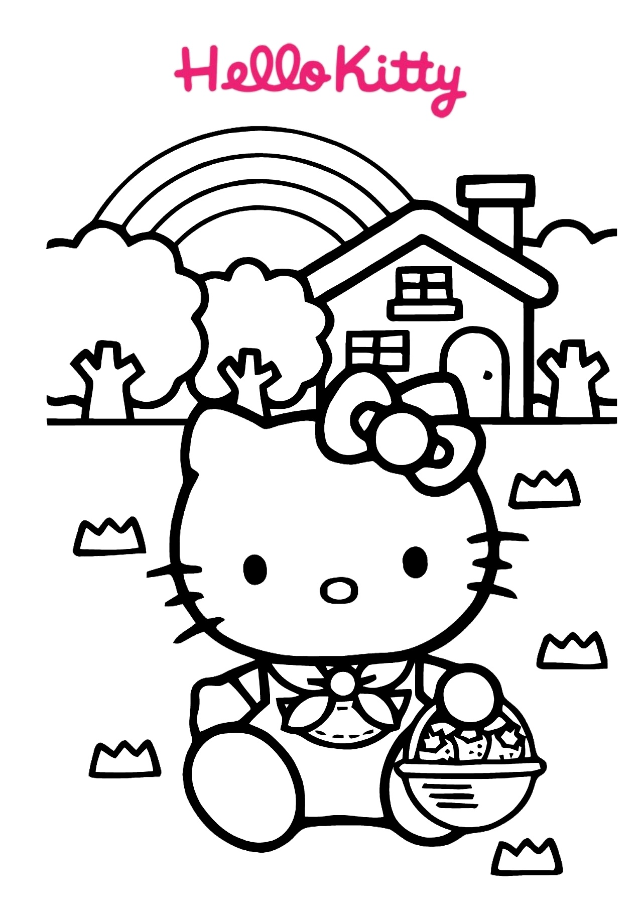 Printable Hello Kitty Coloring Pages Cute And Easy