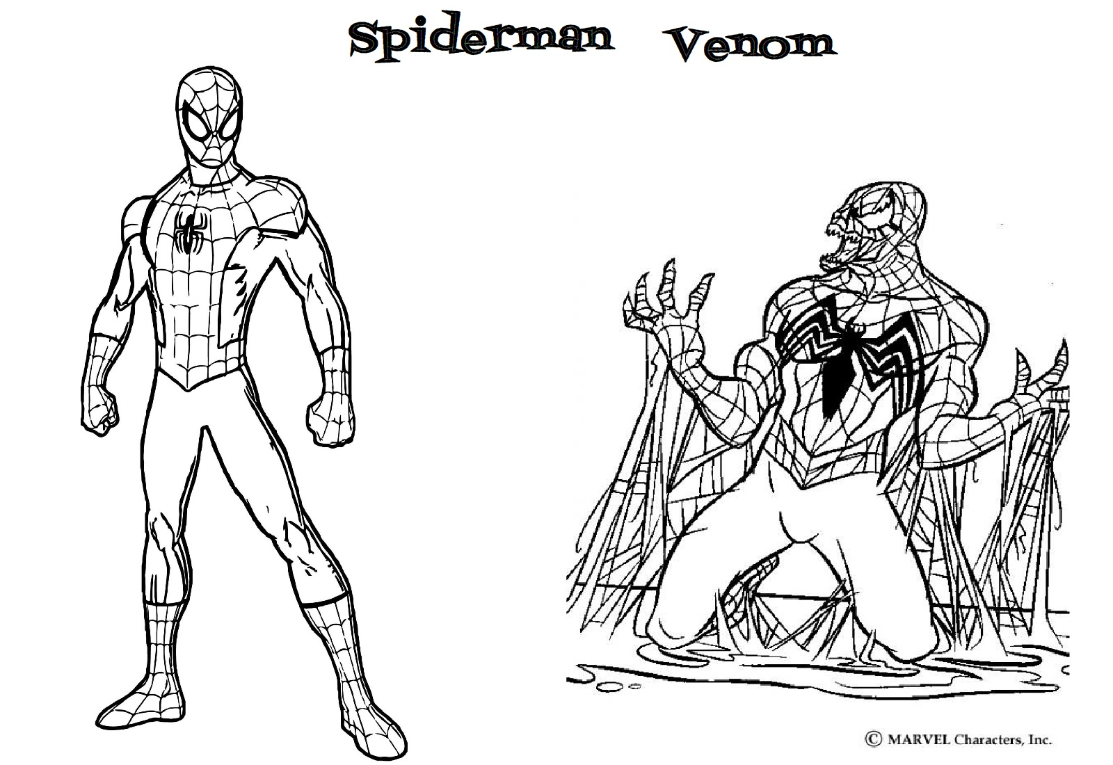 Cute Amp Easy Printable Spiderman Coloring Pages