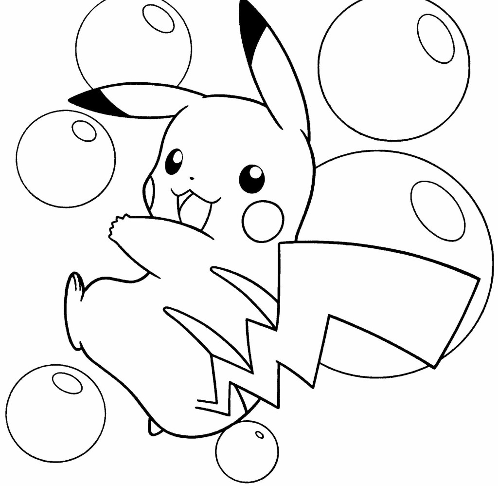 Pokemon Thunderbolt 10 Pikachu Coloring Pages