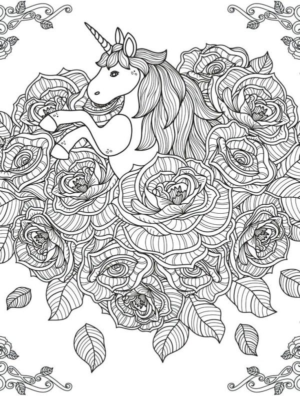 unicorn color pages # 27