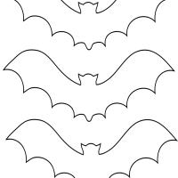 3 bat stencils