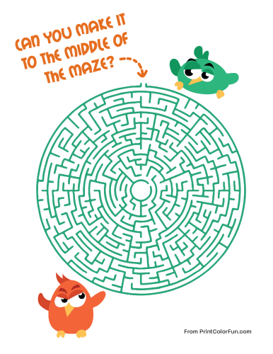 Bird maze - difficult