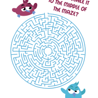 Printable bird maze - Medium difficulty for kids