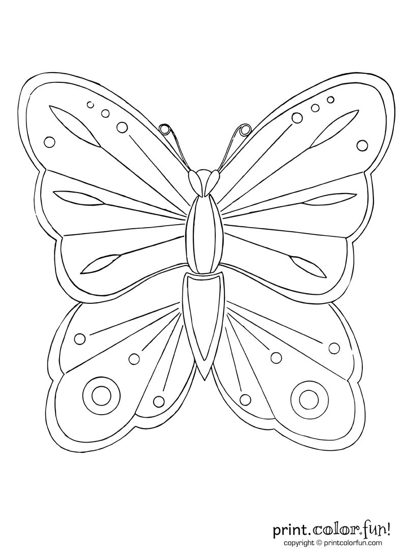 Pretty butterfly coloring page - Print. Color. Fun!