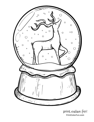 christmas-snow-globe-with-reindeer