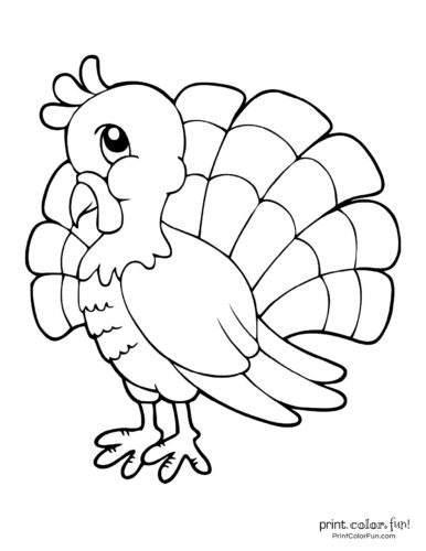 20 Terrific Thanksgiving Turkey Coloring Pages For Some Free Printable Holiday Fun Coloring Page Print Color Fun