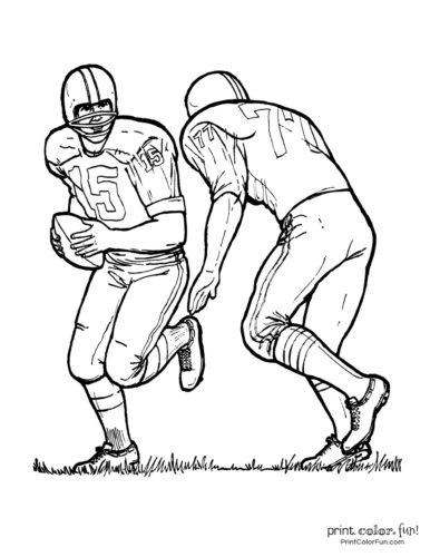 Football Coloring Pages Free Sports Printables Coloring Page Print Color Fun