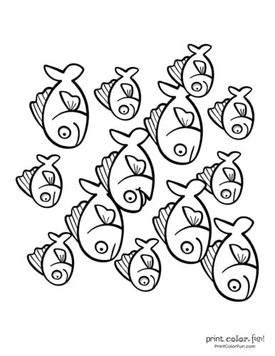 Top 100 Fish Coloring Pages Cute Free Printables Coloring Page Print Color Fun