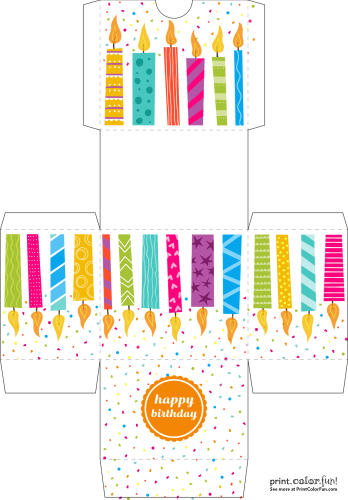 Happy birthday cutout box craft