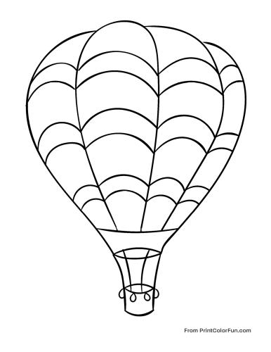 Huge hot air balloon flying