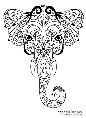 Ornamental elephant design